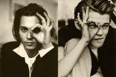 Johnny Depp, leonardo dicaprio, eyes, hands, My two favorite male actors together!
