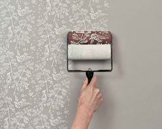 .Cool!Looks like wallpaper but you can paint over it :)