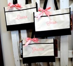 5 Personalized Bridesmaid Gift Tote Bags Personalized Tote, Bridesmaids Gift, Monogrammed Tote by elrileyembroidery on Etsy https://www.etsy.com/listing/74162044/5-personalized-bridesmaid-gift-tote-bags