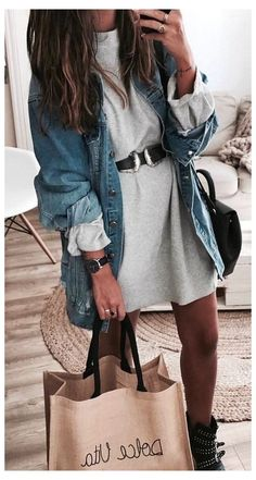 Comment t'habiller à 40 ans ? – Best Long boots outfit – Ways to Wear Boots The Definitive Guide Cozy Fall Outfits, Edgy Outfits, Dress Outfits, Summer Outfits, Fashion Outfits, Denim Outfits, Swag Fashion, Spring Outfits Women, Rock Outfits