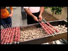 Grilling Lamb Skewers Faster with an Hair Dryer. Italian Street Food. Traditional Arrosticini - YouTube