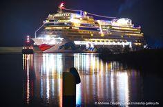 AIDAstella leaves Papenburg - February 2013 - AIDAstella 244 - Cruise Ships from Papenburg / Germany