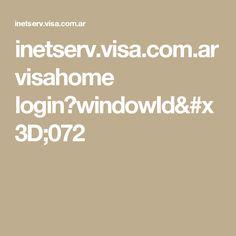 inetserv.visa.com.ar visahome login?windowId=072