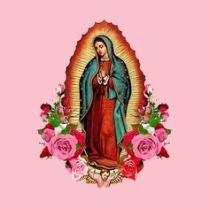 virgen de guadalupe tattoo ideas Our Lady of Guadalupe Virgin Mary - Virgin Of Guadalupe - Camiseta Amor Chicano, Chicano Love, Chicano Art, Chicano Tattoos, Virgin Mary Painting, Virgin Mary Art, Catholic Art, Religious Art, Cute Wallpaper Backgrounds