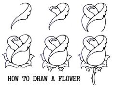 how to draw a mouth with a rose - Google Search
