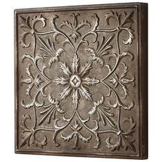 Floral Burst Wall Plaque  sc 1 st  Pinterest & $23.00 Home Decorators Collection Stamped 16.5 in. Square Distressed ...