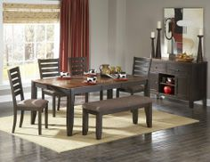 Homelegance D5341-72-DIN-SET Natick Dining Set by Homelegance. $969.00. Natick Dining Set by Homelegance D5341-72-DIN-SET. Instantly inviting, the Natick Collection provides a conservative modern look to your casual dining space. The acacia veneered group is finished in a two-tone warm espresso and light brown finish. Table features clipped corner top and self-storing butterfly leaf. Please refer to the Specifications to determine what items are included since sometim...