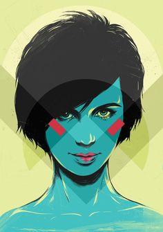 Self-portrait by Yana Elert, via Behance