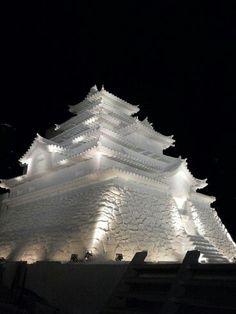 Tsuruga Castle (Aizu-Wakamatsu Castle). Sapporo Snow Festival, Hokkaido