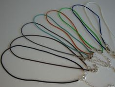 One Rubber Cord Necklaceyou choose the color by Artgirl56 on Etsy, $8.00