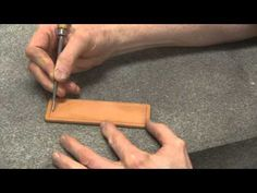 Carving Leather Part 1 With Leather Crafter and Saddle Maker Bruce Cheaney Leathercraft Tutorial