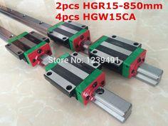 134.90$  Buy here - http://alikap.worldwells.pw/go.php?t=32533611080 - 2pcs original hiwin linear rail HGR15- 850mm  with 4pcs HGW15CA flange block cnc parts 134.90$