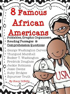 foldables, graphic organizers, reading passages, comprehension check-up, and a coloring book #BlackHistoryMonth