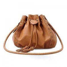 Fashionable Brown Tied Slanting Bag/One-Shoulder Bag For Female, BROWN in Shoulder Bags | DressLily.com