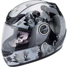 My helmet. Love it!  Scorpion Women's EXO-400 Lilly Helmet - Street Motorcycle - Motorcycle Superstore