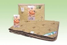 """Comforter  """"4 Seasons"""" Camel Hair Combination Of The Two Blankets On The Buttons"""