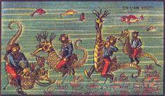Comment nos ancêtres voyaient le XXIe siècle? Hippocampes chevauchés