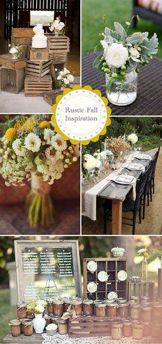 Rustic Fall Wedding Inspiration from weddingwire.com