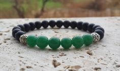 Check out this item in my Etsy shop https://www.etsy.com/listing/214241805/mens-beaded-protection-green-jasper