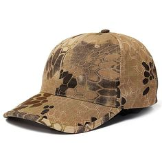3e5a7a9813539 Men s Camo Cap Adjustable Military Hunting Fishing Army Hiking Baseball Hat