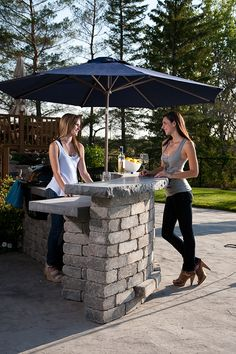 Stone Oasis Curved Bar