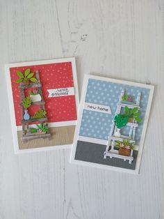 De nieuwe Craftables van Marianne Design ontworpen door Marleen van der Most zijn heel veelzijdig te gebruiken.  Ik heb er een verjaardagskaart en een nieuwe woning kaart van gemaakt, maar je kunt ze voor veel meer gelegenheden gebruiken. Zomaar, sterkte, succes, denk aan je.. noem maar op.