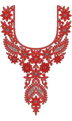Boho Chic Neck Yoke Gala Sequin Embroidery Design