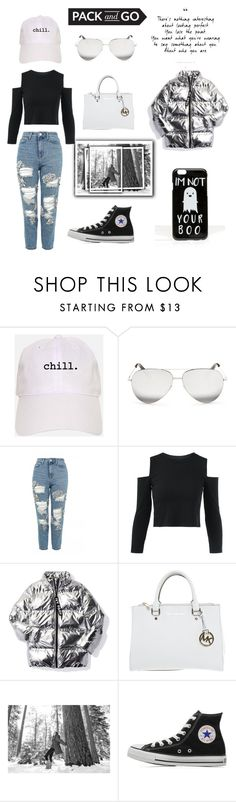 """""""Black and White>Pack And Go"""" by stantaramusicuk ❤ liked on Polyvore featuring Victoria Beckham, Topshop, Ivy Park, Michael Kors, SOREL, Converse, ASOS and blackandwhite"""