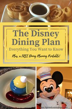 Everything You Want to Know about The Disney Dining Plan, Disney vacation, Disney Trip