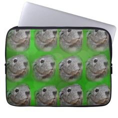 Grey Guinea Pigs On Green Bokeh 13 inch Laptop Sleeve - personalize cyo diy design unique