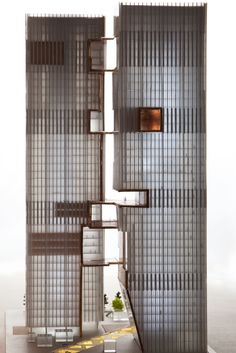 z14 eco spine in Beijing cbd model by spatial practice #spatialpractice #architecture #model #unbuilt #tower #highrise #connections #eco #sustainable #beijing #sustainable #innovative