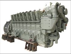 General Electric GEVO 16 diesel engine. Locomotive Engine, Diesel Locomotive, Performance Engines, Combustion Engine, Train Engines, Heavy Machinery, Water Cooling, Iron Age, Well Thought Out