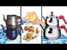 Natural Cleaning Solutions, Natural Cleaning Products, Kettle, Food And Drink, Make It Yourself, Kitchen, Youtube, House Cleaning Tips, Tools