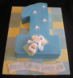 Cute first birthday cake in shape of the numer one with pink puppy on top. Puppy Birthday Cakes, Boys First Birthday Cake, Birthday Cake Pictures, Baby Boy Birthday, First Birthday Parties, First Birthdays, Birthday Ideas, Puppy Cake, Dog Cakes