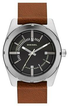 464a8c596fef DIESEL®  NSBB  Leather Strap Watch