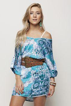 Vestido estampado azulejo #AnnaBellaLoja