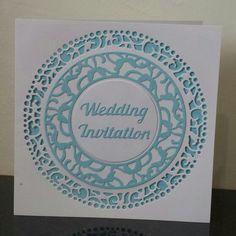 Wedding Invitation made using Tonic Verso Wreath dies - S6 Crafting