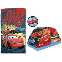 Disney-Pixar Cars 3-Piece Dream Set  sc 1 st  Pinterest & Delta Children Disney Pixar Cars Tent Toddler Canopy Bed | 4 ...