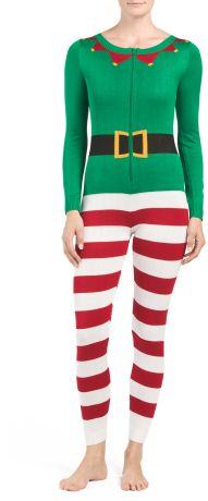 Juniors Christmas Elf Onesies #onesie #christmas #elf