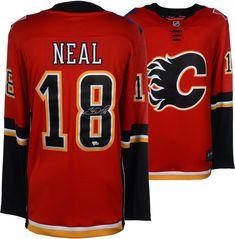 6cae17fd1 James Neal Calgary Flames Autographed Red Fanatics Breakaway Jersey  Calgary