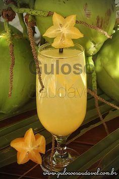 Suco de Carambola com Água de Coco » Bebidas, Receitas Saudáveis » Guloso e Saudável