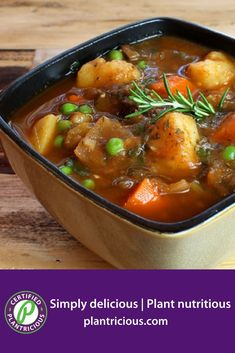 Beefless Stew - Straight Up Food Raw Food Recipes, Meat Recipes, Vegetarian Recipes, Healthy Recipes, Meat Meals, Healthy Eats, Recipies, Vegan Foods, Vegan Dishes