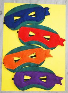 Kit máscaras infantis tartarugas ninja