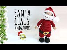 Santa Claus Amigurumi - Free English Pattern here: http://www.lanasyovillos.com/en/amigurumis/santa-clausand Videotutorial here: https://www.youtube.com/watch?v=KcwldPt5WT4