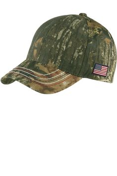 Realtree Adjustable Camo Camouflage Cap Hat with American Flag - Mossy Oak  New Break-Up - CK11SJ7LQIX d3e61a2b8059