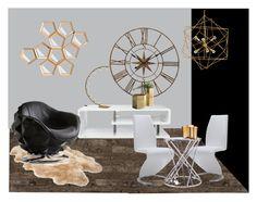 Futurista by jessibartual on Polyvore featuring interior, interiors, interior design, hogar, home decor, interior decorating, Andrew Martin, Flamant, Furniture of America and Global