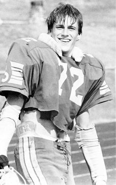 Jon Hamm in his football gear during his senior year at the John Burroughs School, 1989