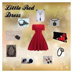 Little Red Dress: Unique Accessories by paulinemcewen on Polyvore featuring мода