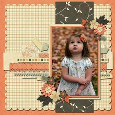 love the vintage scrapbook layout