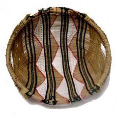 Indigena' Basket / Cesto Kuño – etnia Mehinako – Xingu Artesanato brasileiro